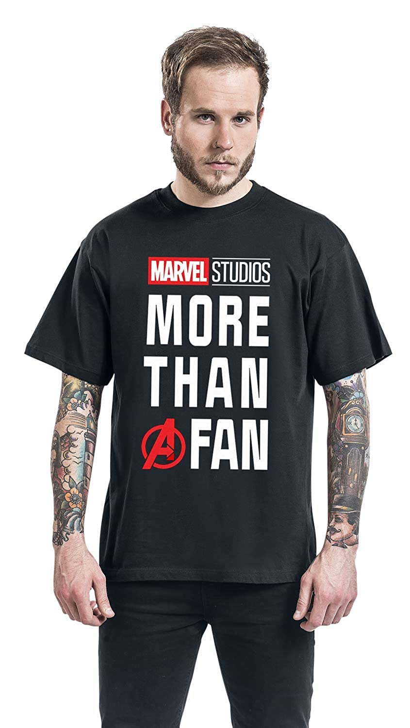Marvel More Than A Fan T-Shirt Nero