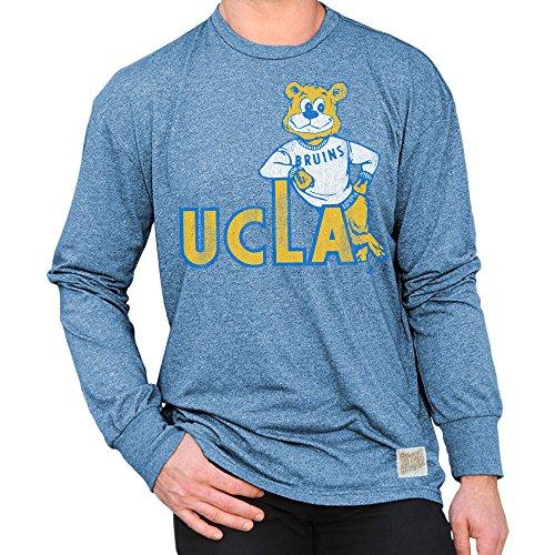 (Elite Fan Shop UCLA Bruins Retro Long Sleeve Tshirt Blue - L)