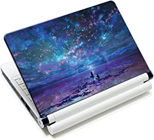 """15.6 inch Laptop Notebook Skin Sticker Cover Art Decal Fits 13.3"""" 14"""" 15.4"""" 15.6"""" HP Dell Lenovo Apple Mac Asus Acer (Free 2 Wrist Pad Included) (Star Sky Lover)"""
