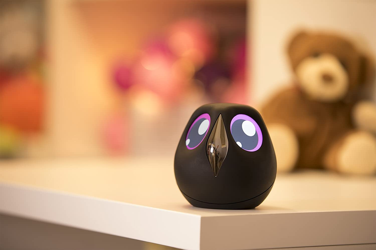 Ulo 2.0 Interactive Home Monitoring Owl Wireless Security Camera Black Battery Powered Surveillance Camera with Updated Firmware