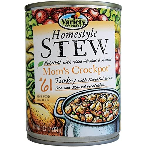 well-wreapped Variety Homestyle Recipes STEW Mom's Crockpot with Turkey Natural Dog Food, 12/13.2-Ounce