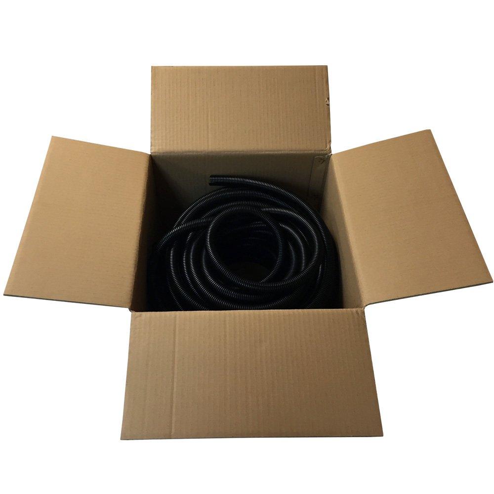 1 Split Wire Loom Tubing Polyethylene Black - 20FT