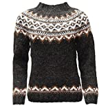 Product review for ICEWEAR Brynja 100% Icelandic Wool Hand Knitted Jumper with crew-neck