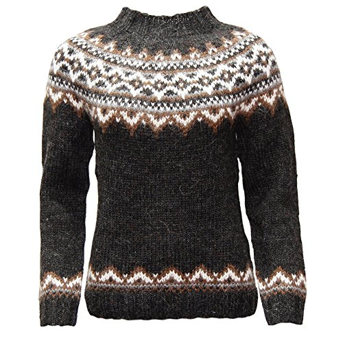 - ICEWEAR Brynja 100% Icelandic Wool Hand Knitted Jumper with crew-neck