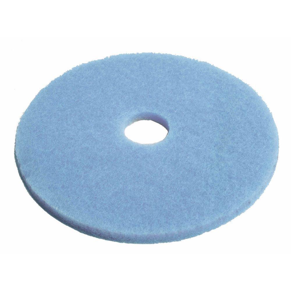 HUBERT Floor Cleaning Pad Round Blue - 20'' Dia Case of 5