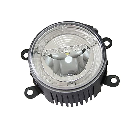 Amazon.com: NSLUMO 12V 24V LED Fog Light 9cm with DRL Halo Daytime Running Light Fog Lamp for Citroen C3 C4 C5 C6 C-CROSSER Car Light Styling: Automotive
