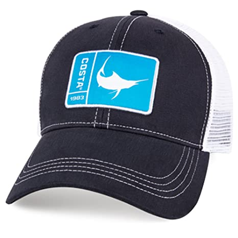 outlet store sale c7a36 7210a ... reduced costa del mar original patch marlin trucker hat navy blue white  one size f693e dc0bc