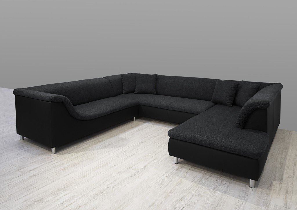 Dreams4home Polsterecke Loree Sofa Wohnlandschaft Ecksofa Couch Xxl