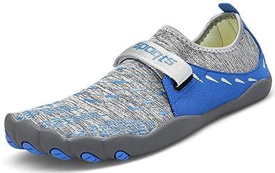 ZOEASHLEY Herren Damen Wandern Barfußschuhe Trekking Schuhe Sommer Ultraleicht Outdoor Fitnessschuhe mit Rutschfest Weiche Sohle Gr.36-46 7W65ElHa