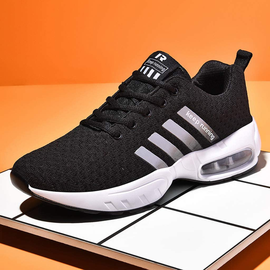 Men/'s Air Cushion Sports Running Shoes Quality Comfortable Fitness Casual Shoes