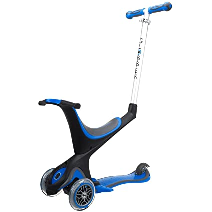 Globber 3 Wheel 5-in-1 Convertible Scooter (Dark Blue)