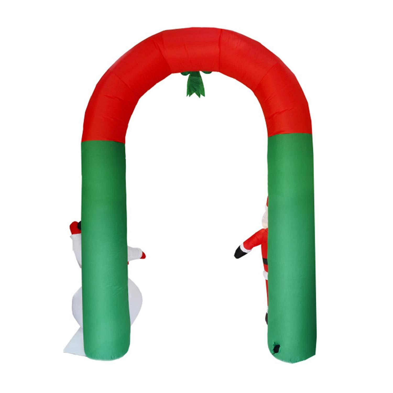 Amazon.com: Decoración hinchable de Navidad, arco de Navidad ...