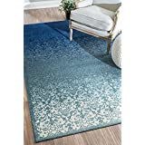 nuLOOM 200CFDO01A-5308 Modern Abstract Vintage Turquoise Rug (5-Feet 3 X 8-Feet)