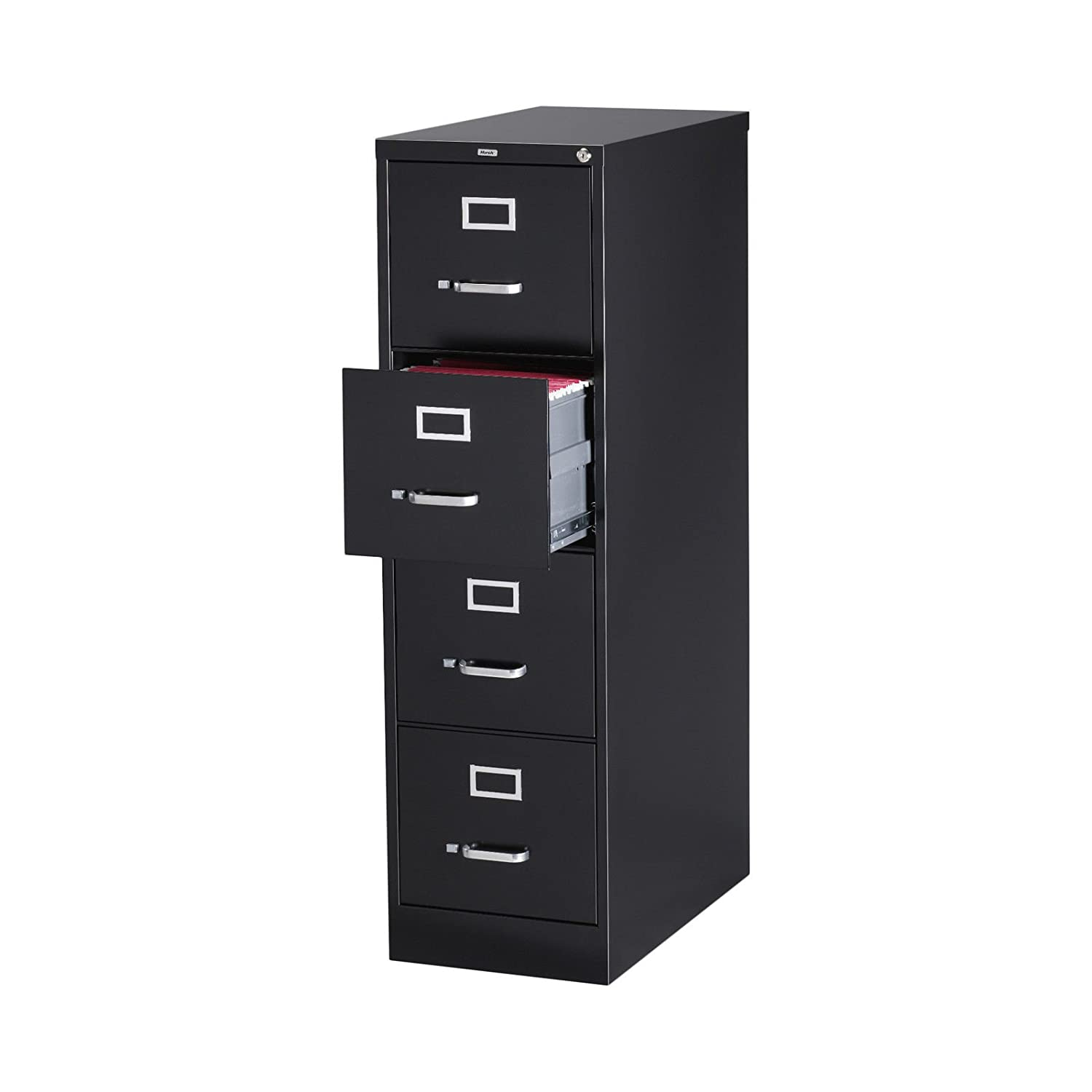 4 Drawer Letter Size Commercial File Finish: Black