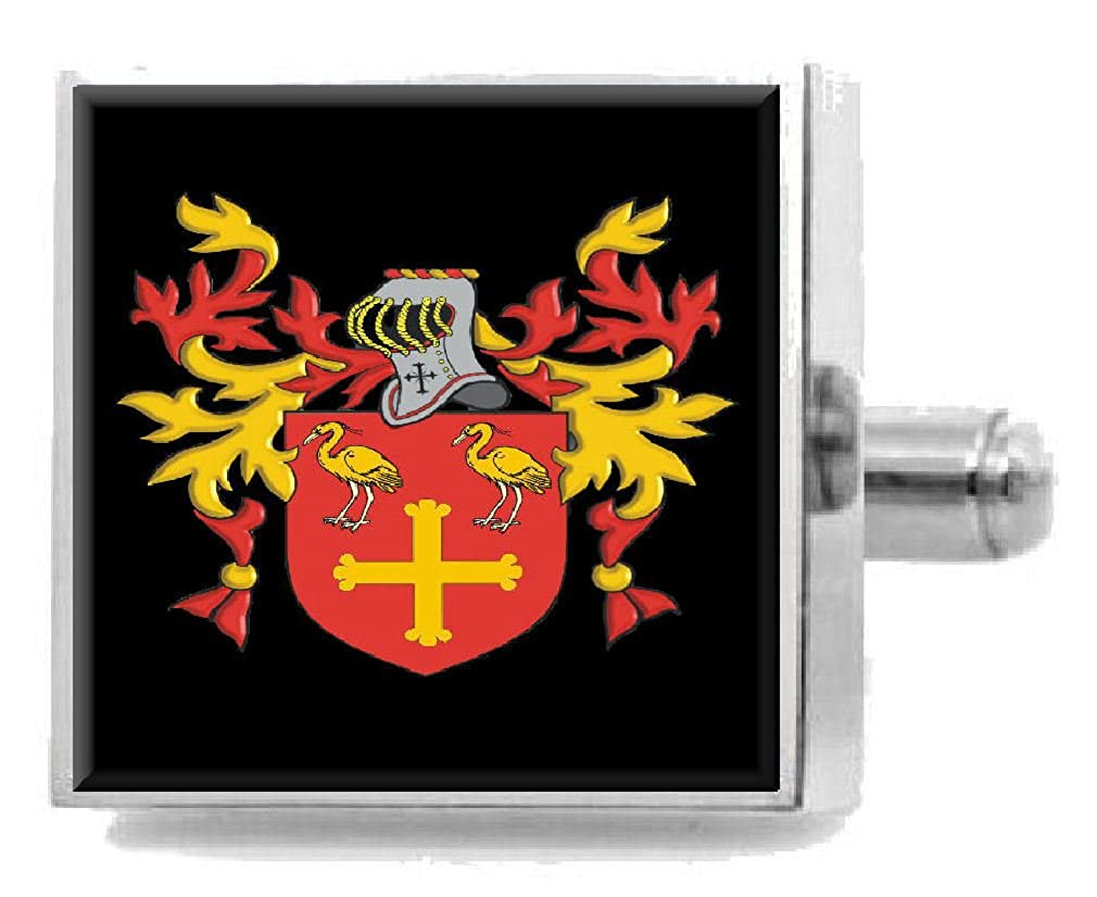 Select Gifts Skirving Scotland Family Crest Surname Coat Of Arms Cufflinks Personalised Case