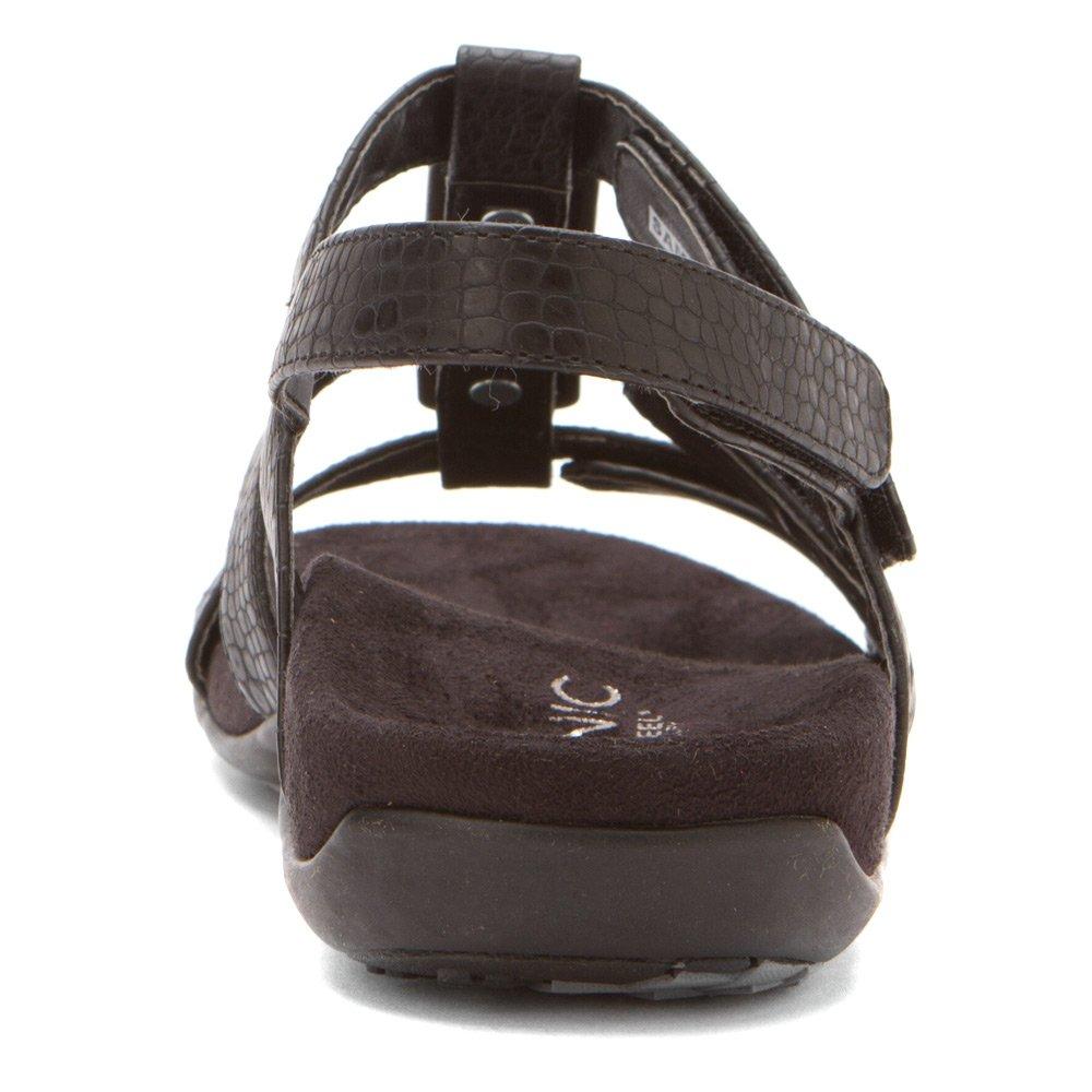 Vionic Amber - Damenschuhe Sandalette / Sling, Braun, absatzhöhe: leichter leichter absatzhöhe: keil schwarz/Croco 5e1aea