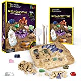 NATIONAL GEOGRAPHIC Mega Gemstone Dig Kit-Excavate 15 real Gems including Amethyst, Tiger's Eye and Quartz