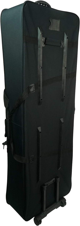 Rockville Rolling Bag Keyboard Case w//Wheels+Trolley Handle For ROLAND RD-2000