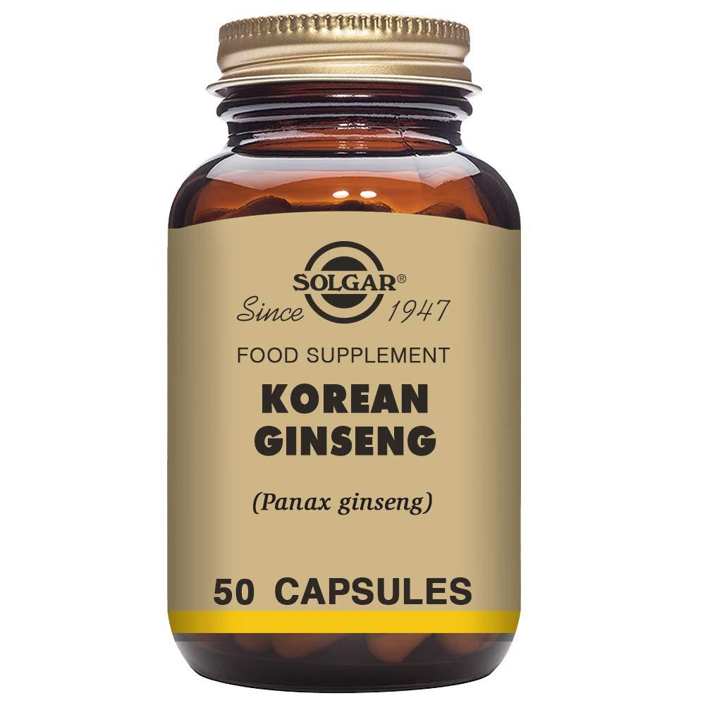 Solgar Ginseng Coreano Cápsulas vegetales - Envase de 50: Amazon.es: Salud y cuidado personal