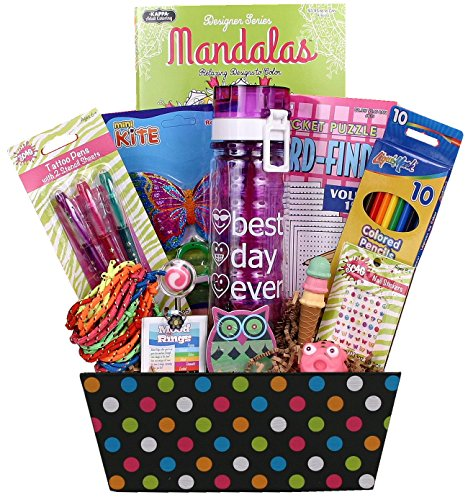 Girl Stuff - Birthday or Special Occasion Gift Basket for Girls and Tweens!