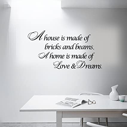 Amazon Com Earck Wall Sticker Quotes House Is Love Dreams Home