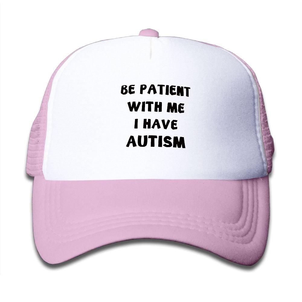 Mkajkkok Be Patient with Me I Have Autism Adjustable Truck Cap for Children.