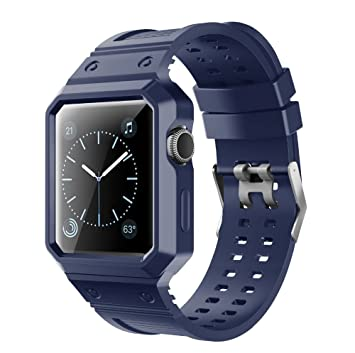 Correa iWatch Repuesto para Reloj Inteligente Apple Watch Serie 3 Serie 2 Serie 1 Azul 38mm