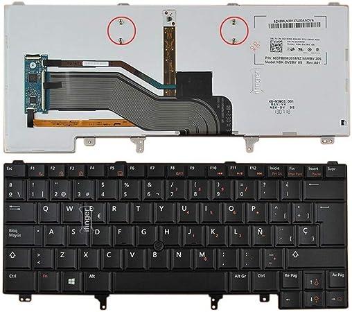 IFINGER Teclado español para DELL Latitude E6220 E6230 E6320 ...