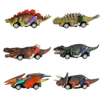 Amazon.com: Angoo - Juguetes de dinosaurio para coche, 6 ...