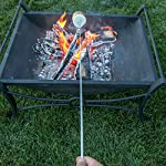 MalloMe Marshmallow Roasting Smores Sticks - Camping Accessories for Campfire Fire Pit Cooking - Set (Set of 8) 15 🏕️ ONLY MalloMe WILL LAST! BEWARE OF CHEAP KNOCK OFFS! Highest quality FDA APPROVED power welded forks use Non-Toxic 18/8 304 STAINLESS STEEL to ensure no rusting & safe roasting. PERFECT ROAST: Two prongs to prevent marshmallow from spinning on stick when melting. EASY CLEANING & STORAGE: Retracting fork design and heat-resistant canvas pouch are convenient for long camping trips or storing at home 🏕️BEST MONEY EVER SPENT: The MalloMe Marshmallow Roasting Sticks Bundle includes 8 Piece Telescoping Fork Set + Canvas Travel Bag Pouch + 10 Bamboo Skewers + Perfect Marshmallow Roasting and Smores Making Guide with 10 recipes Ebook 🏕️PERFECT GIFT for FAMILY and FRIENDS: Best Marshmallow Roasting Sticks for anyone looking for a high quality, great value product to enjoy at the cookout with the people you love.