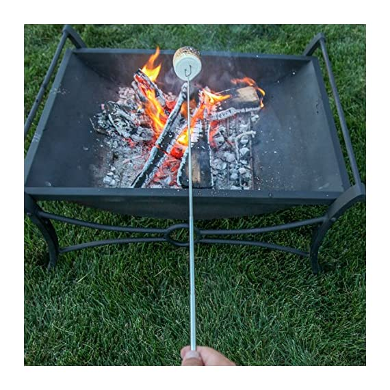 MalloMe Marshmallow Roasting Smores Sticks - Camping Accessories for Campfire Fire Pit Cooking - Set (Set of 8) 6 🏕️ ONLY MalloMe WILL LAST! BEWARE OF CHEAP KNOCK OFFS! Highest quality FDA APPROVED power welded forks use Non-Toxic 18/8 304 STAINLESS STEEL to ensure no rusting & safe roasting. PERFECT ROAST: Two prongs to prevent marshmallow from spinning on stick when melting. EASY CLEANING & STORAGE: Retracting fork design and heat-resistant canvas pouch are convenient for long camping trips or storing at home 🏕️BEST MONEY EVER SPENT: The MalloMe Marshmallow Roasting Sticks Bundle includes 8 Piece Telescoping Fork Set + Canvas Travel Bag Pouch + 10 Bamboo Skewers + Perfect Marshmallow Roasting and Smores Making Guide with 10 recipes Ebook 🏕️PERFECT GIFT for FAMILY and FRIENDS: Best Marshmallow Roasting Sticks for anyone looking for a high quality, great value product to enjoy at the cookout with the people you love.