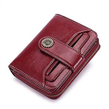 KASNDJ Nuevo Billetero Mujer Monederos Marca Cremallera Pequeño Monedero Monedero Mujer Corto Billetera Mujer Carteras de