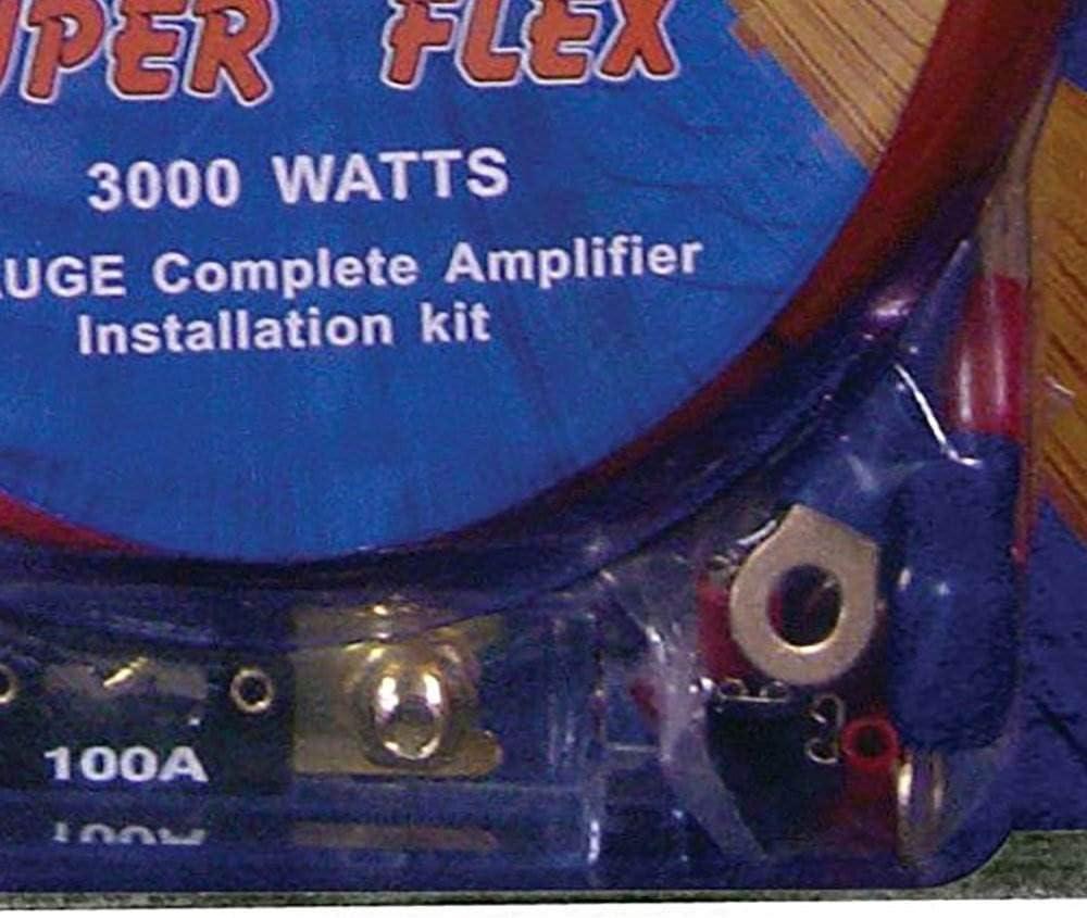 Q Power Super Flex 4-Gauge 3000-Watt Amplifier Wiring Amp Kit 4 Pack
