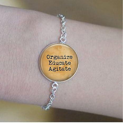 Organizar pulseras de ágata educativa – Pulseras resistentes – Feminismo – joyería feminista – Feminismo pulseras – Susan B Anthony cita: Amazon.es: Juguetes y juegos