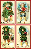 Olde America Antiques Christmas Ornament Set #35 Cotton 3'' x 4.5'' Quilt Blocks
