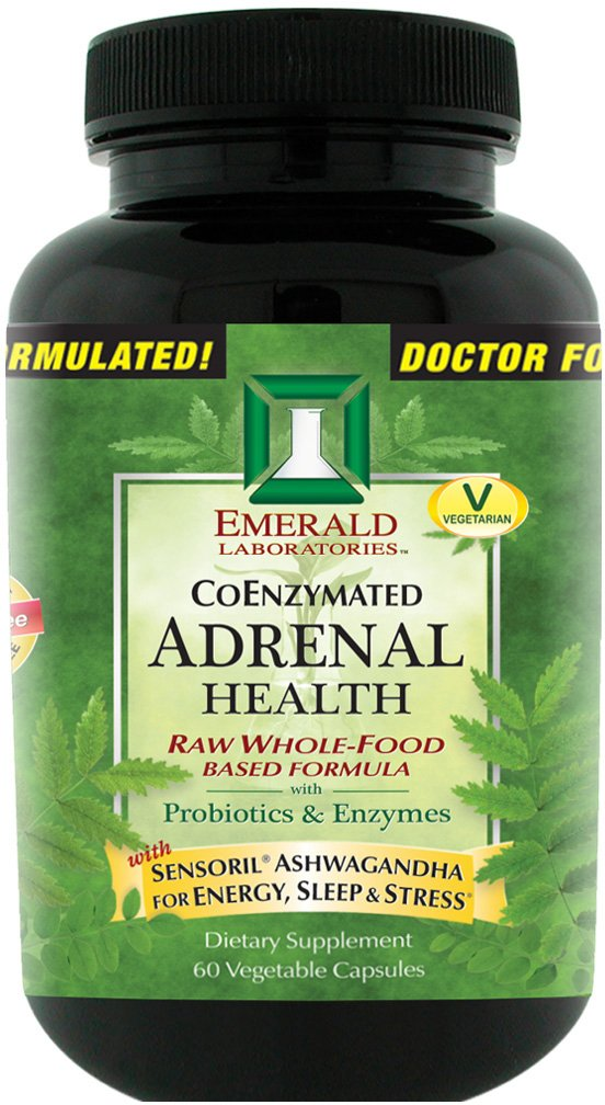 Emerald Laboratories - Adrenal Health - with Sensoril ® Ashwagandha for Energy, Sleep & Stress - 60 Vegetable Capsules