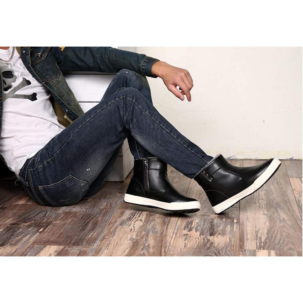 LXYU-schuhe Männer Große Hohe Hilfe Plus SAMT Große Männer Größe Baumwolle Stiefel Britischen Mode Warme Seitliche Reißverschluss Schnee Stiefel Winter bb5a34