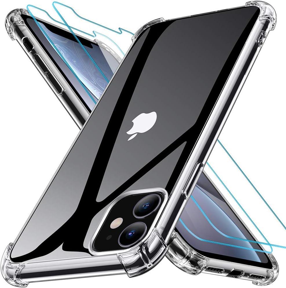 iPhone 11 Hülle + [2 Stück Panzerglas] - IPhone Hülle