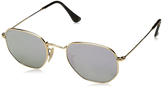 eb2e0dcbc32 Image Unavailable. Image not available for. Color  Ray-Ban RB3548N 001 8O  Non-Polarized Hexagonal Sunglasses