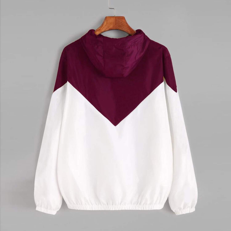 Women Basic Jackets Female Zipper Pockets Casual Long Sleeves Coats Hooded Jacket,Black,XXL,United States