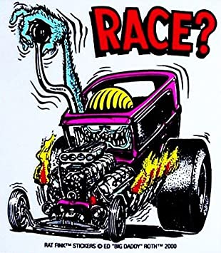 Amazon Com Rat Fink Race Hot Rod Decal Sticker Automotive Rat Fink Coloring Pages
