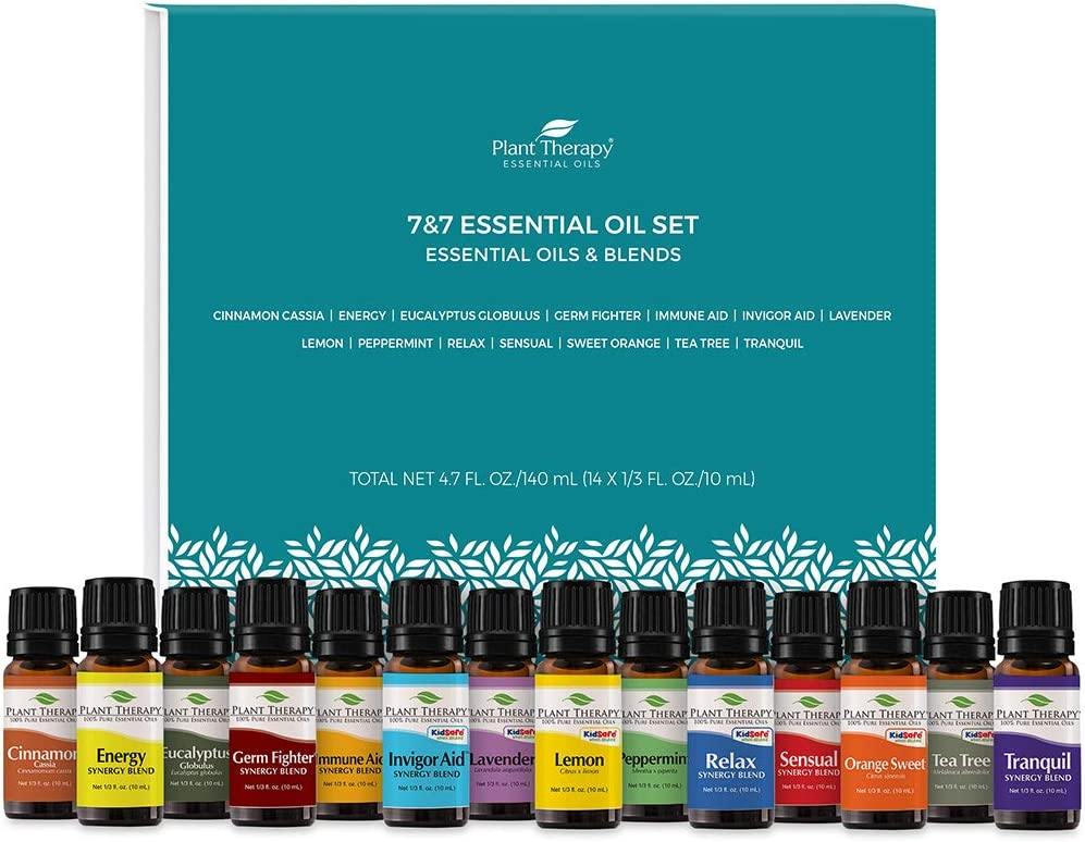 Plant Therapy 7 & 7 Essential Oilss Set 7 Single Oils