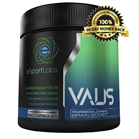 VALIS Performance Enhancement for Gamers. The Clinically Tested Ingredients in Our Most Popular Brain Boosting Pills are Designed to Fuel and Improve Reflexes, Focus, Energy, and Thinking 100ct
