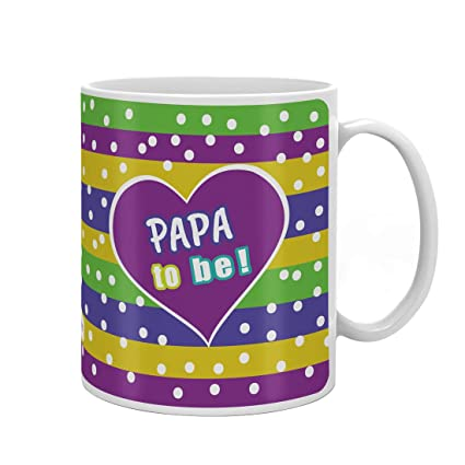 Indigifts Dad Birthday Gifts Papa To Be Unique Coffee Mug 330 Ml Multi Color