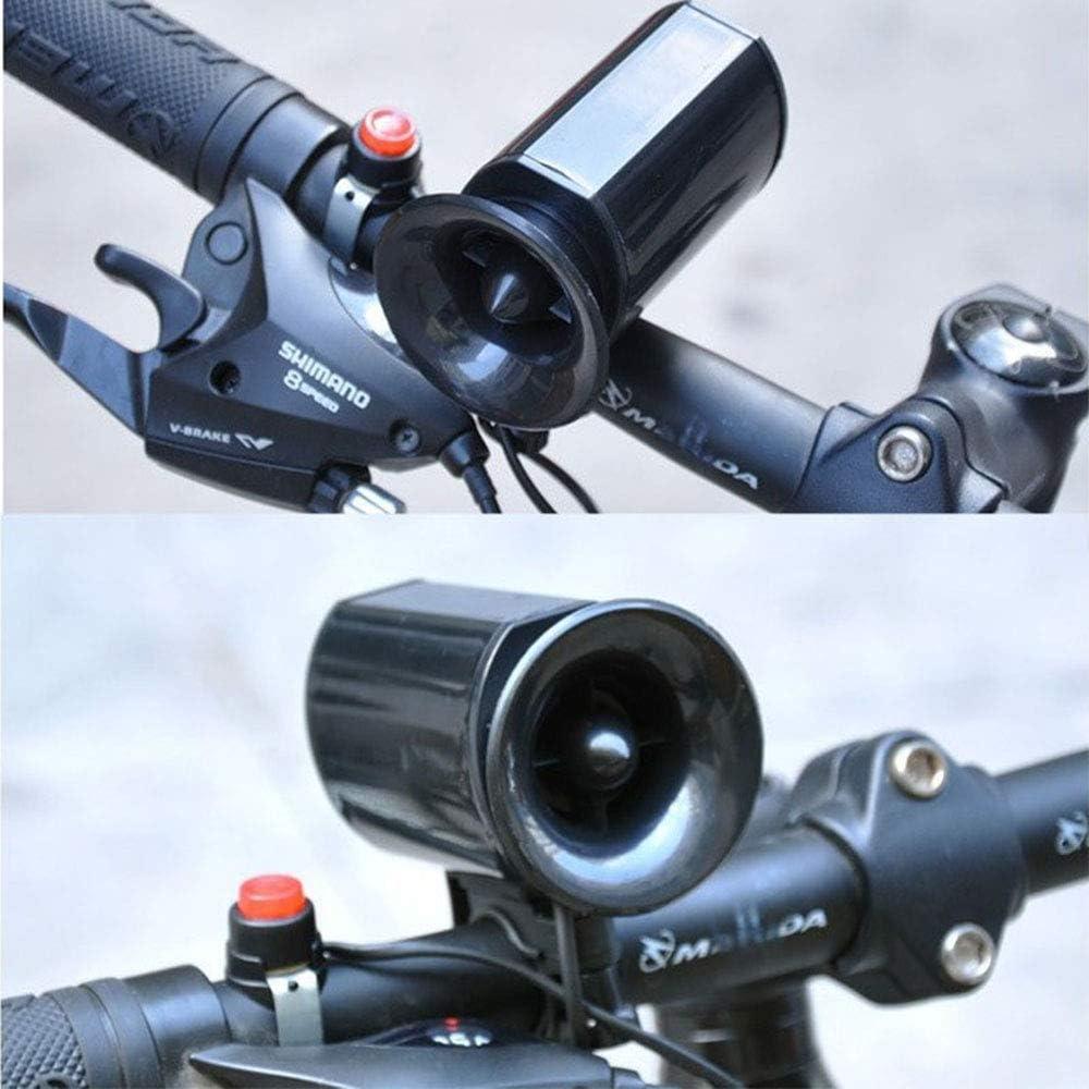 6Sounds Ultra laute elektronische Sirene hoch Wasserdichtes Fahrradklingel Fahrr