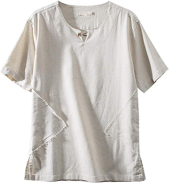 T-Shirt /à Manches Courtes Tops Homme /Ét/é Col Rond Imprim/é Cr/âne Casual Chemise Tee Blouse Tshirt de Plage Loisirs
