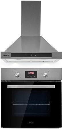Klarstein Kalahari Zelda lote de cocina - Horno y extractor de humos, Horno de 68 litros/clase