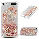 iPod Touch 6 Case, Touch 5 Liquid Case, Bling Sparkle Fashion Luxury Floating Shell Ultra Slim Quicksand Shockproof Durable Protective Cute Girls Case for iPod Touch 5/6 GEMYON, Diamond