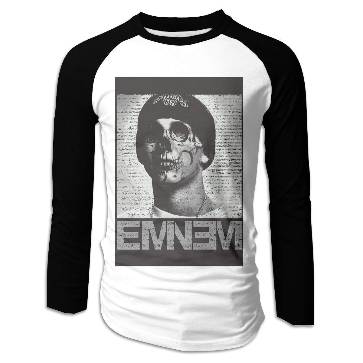 Caoi Uuc Eminem Shull Game Raglan Baseball T-shirts Black