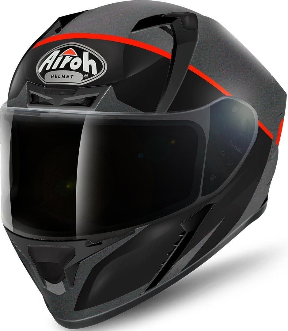 Airoh Valor Eclipse Helm Xl 61 62 Schwarz Matt Orange Auto